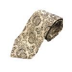ペイズリーシリーズ シルク100%ネクタイ ジャガード織 シャンパンゴールド