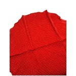 ファクトリー イタリア製 シルク100%ポケットチーフ ハンカチーフ レッド