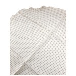 ファクトリー イタリア製 シルク100%ポケットチーフ ハンカチーフ ホワイト