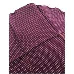 ファクトリー イタリア製 シルク100%ポケットチーフ ハンカチーフ パープル