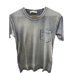 トラッド インディゴ 綿100%ポケットTシャツ インディゴネイビー Mサイズ - 拡大画像