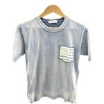 トラッド インディゴ 綿100%ポケットTシャツ 星条旗 Lサイズ