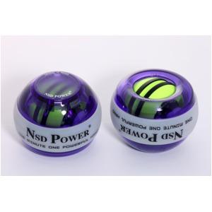手首専門 トレーニング器具 「パワーボール NSD Power Spinner スピナー」 LEDライト3色変化&オートスタート パープル 上級者用 上達用 日本正規品 - 拡大画像