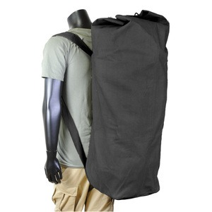 ROTHCO(ロスコ) ダッフルバッグ GIスタイル ダブルストラップ 帆布 Ro2485 ブラック - 拡大画像