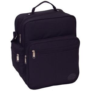 マチが広いのでA4サイズ書類 弁当箱などが 楽々入るビジネスバッグ IK8110 ブラック - 拡大画像