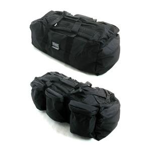 U. S.軍 水にも強い防水加工 布使用3WAYシーサックバッグ BH046YN ブラック - 拡大画像