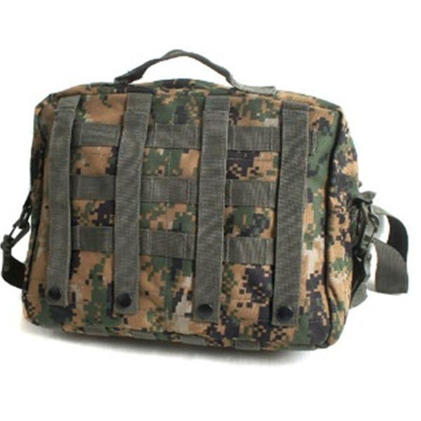 アメリカ軍 防水布使用A4対応MOLLショルダーバック BS076YN ブラック 【レプリカ】