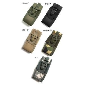 アメリカ軍 スマートフォンポーチ(携帯ポーチ) モール対応 防水加工 BP073YN ブラック 【 レプリカ 】  - 拡大画像