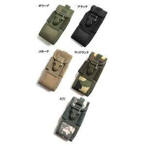 アメリカ軍 スマートフォンポーチ(携帯ポーチ) モール対応 防水加工 BP073YN ウッドランド 【 レプリカ 】  - 拡大画像