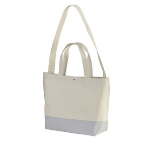 帆布製綿キャンパスコットンスイッチングトートバッグ 2WAY CB1490 ナチュラル/ライトグレー - 拡大画像