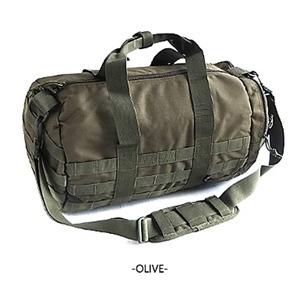 アメリカ軍 ボストンバッグ/鞄 【 2WAY 】 モール対応/ウレタン素材入り BH054YN オリーブ 【 レプリカ 】  - 拡大画像