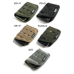 モール対応防水布使用 スマートフォンケース ブラック - 拡大画像