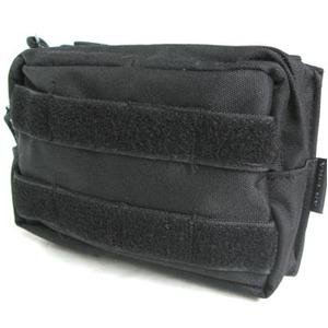 モール対応防水布使用 ウェストポーチ ブラック - 拡大画像