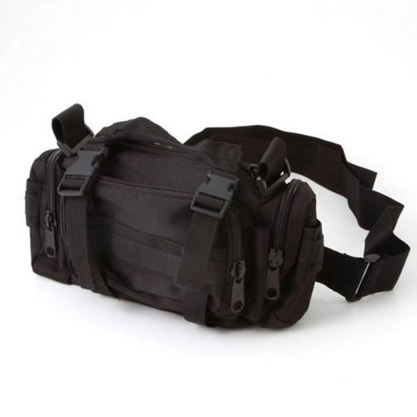 アメリカ陸軍 3WAYウエストバッグ ナイロン(1000デニール) 防水生地使用 BS056YN ブラック 【 レプリカ 】