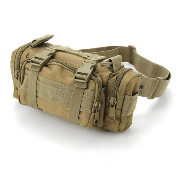 アメリカ陸軍 3WAYウエストバッグ ナイロン(1000デニール) 防水生地使用 BS056YN コヨーテ ブラウン 【 レプリカ 】