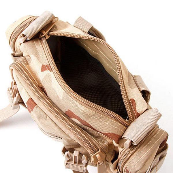 アメリカ陸軍 3WAYウエストバッグ ナイロン(1000デニール) 防水生地使用 BS056YN ウッドランド 【 レプリカ 】