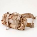 アメリカ陸軍 3WAYウエストバッグ ナイロン(1000デニール) 防水生地使用 B S056YN 3カラーデザート 【 レプリカ 】