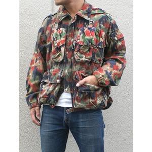 スイス軍放出 アルペン カモフラージュマンテンジャケット 【中古】 M - 拡大画像