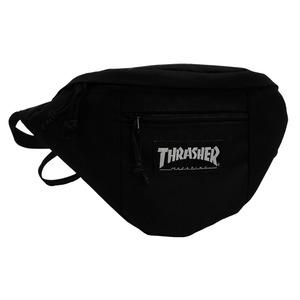 「THRASHER」綿キャンパス帆布製ウェスト&ボディー2WAYバッグブラック×マグロゴ - 拡大画像