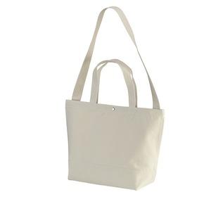 帆布製綿キャンパスコットンスイッチングトートバッグ2WAY ナチュラル - 拡大画像