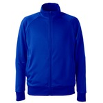 UVカット・吸汗速乾・ドライジャージパイルフルジップラグランスリーブジャケット コバルトブルー XL