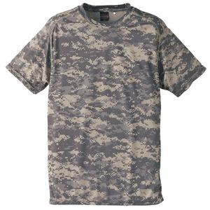 自衛隊海外派遣使用・立体裁断・吸汗速乾さらさらドライ 迷彩 Tシャツ ACU L - 拡大画像