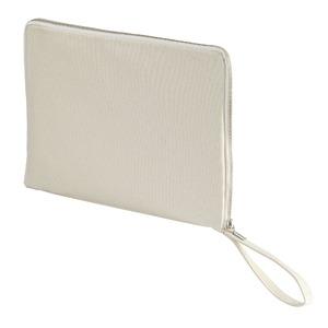 14.3オンス帆布製綿キャンパスコットンクラッチバッグ ナチュラル - 拡大画像