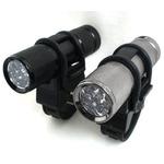 9 LED自転車ホルダー付きフラッシュ ライトガンスモーク( グレー)