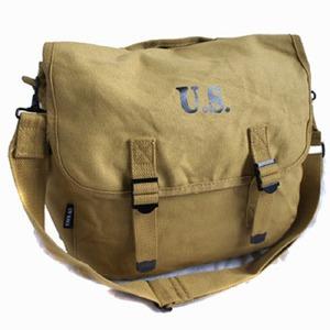 米軍 帆布製 M1936マセット 2WAYバッグ カーキ レプリカ - 拡大画像