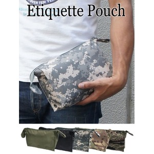 US軍 裏防水布使用エチケットポーチレプリカ ブラック - 拡大画像