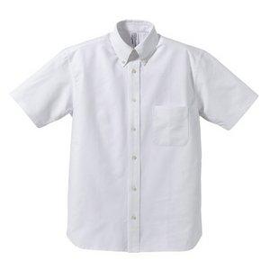 クールビズ対応オックスフォードボタンダウン半袖シャツ CB1068 O X ホワイト XLサイズ - 拡大画像