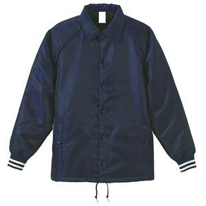 撥水防風加工 裏ボア付コーチジャケット ブラック/ホワイト XL