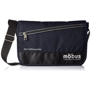 ドイツブランド Mobus(モーブス) メッセンジャーバッグ ネイビー - 拡大画像