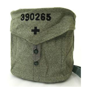 BS070UN-315007スイス軍放出 ガスマスクショルダーバッグ ソルト&ペッパー柄【中古】 - 拡大画像