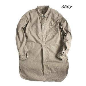スウェーデン軍プルオーバースリーピングシャツ後染めレプリカ グレー《40(メンズフリー相当》 - 拡大画像