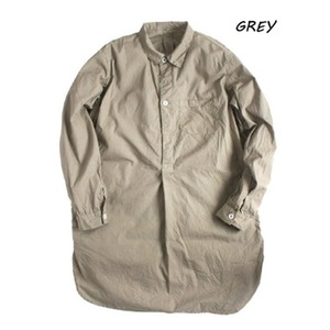 スウェーデン軍プルオーバースリーピングシャツ後染めレプリカ グレー《36(レディースフリー相当)》 - 拡大画像