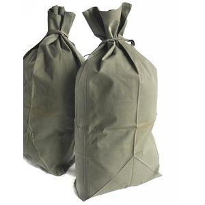 フランス軍放出コットン裏防水ゴム引きランドリーバッグデットストック未使用 (日焼け有り) - 拡大画像
