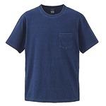 5.3オンス インディゴ染めTシャツポケット付 ダークインディゴ M