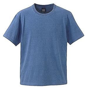 5.3オンス インディゴ染めTシャツ  ライトインディゴ L - 拡大画像