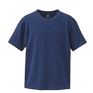 5.3オンス インディゴ染めTシャツ  ダークインディゴ M - 拡大画像