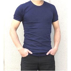 イタリア軍放出マリーンスリムフィットTシャツ ネイビー未使用デットストック 6(XS相当) - 拡大画像