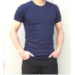 イタリア軍放出マリーンスリムフィットTシャツ ネイビー未使用デットストック 5(S相当)