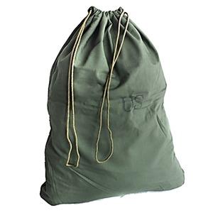 アメリカ軍放出ランドリーバッグ オリーブ未使用デットストック - 拡大画像