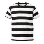 ボールドボーダーショートスリーブTシャツ ブラック&ホワイト M