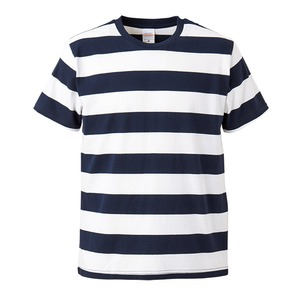 ボールドボーダーショートスリーブTシャツ ネイビー&ホワイト L