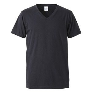 深すぎす浅すぎないVネックTシャツ2枚セット (ホワイト+ブラック) S  - 拡大画像