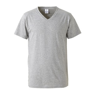 深すぎす浅すぎないVネックTシャツ2枚セット (ホワイト+ヘザーグレー) M - 拡大画像