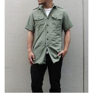 イギリス軍放出フィールドシャツ半袖オリーブ【中古】  L - 拡大画像