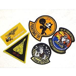米軍 VF-31 ワッペン刺繍レプリカ 5枚セット - 拡大画像