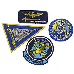 米軍 VF-32 ワッペン刺繍レプリカ 4枚セット - 拡大画像
